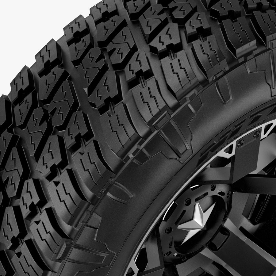 Off Road Wheel NITTO & ROCKSTAR royalty-free 3d model - Preview no. 4