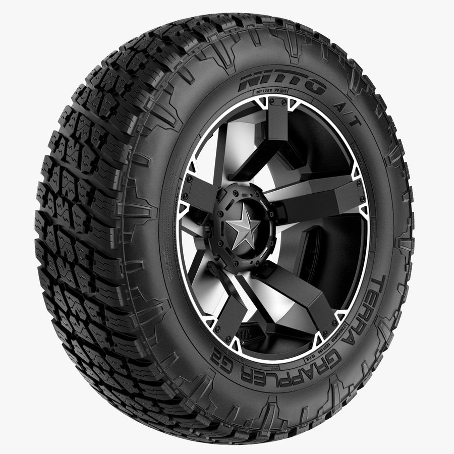 Off Road Wheel NITTO & ROCKSTAR royalty-free 3d model - Preview no. 1