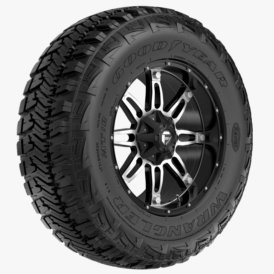 Off Road Wheel GOOD YEAR & FUEL royalty-free 3d model - Preview no. 1