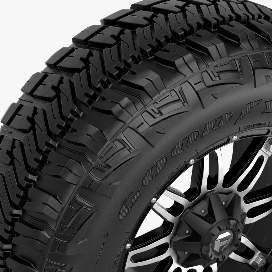 Off Road Wheel GOOD YEAR & FUEL royalty-free 3d model - Preview no. 4