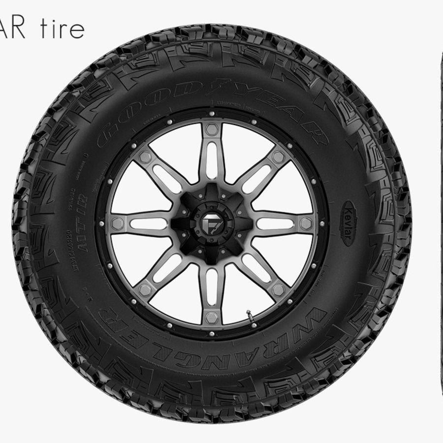 越野轮好年和燃料 royalty-free 3d model - Preview no. 2