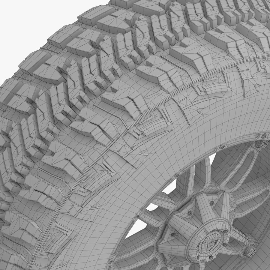 Off Road Wheel GOOD YEAR & FUEL royalty-free 3d model - Preview no. 10