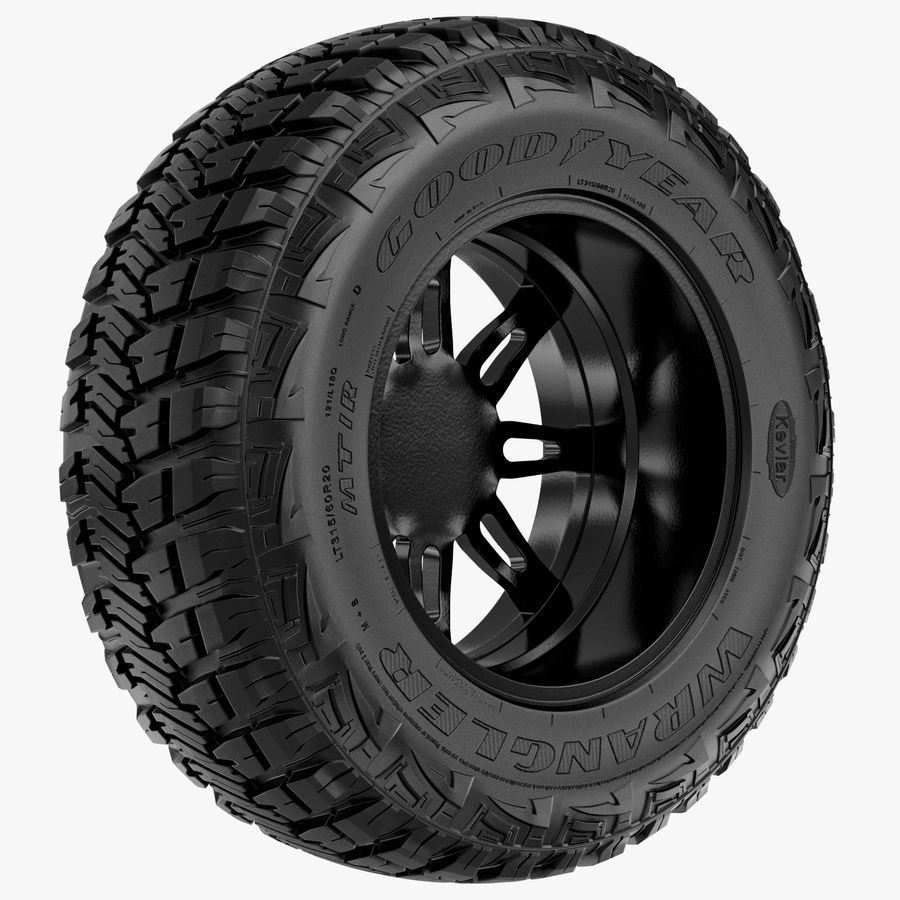 Off Road Wheel GOOD YEAR & FUEL royalty-free 3d model - Preview no. 5