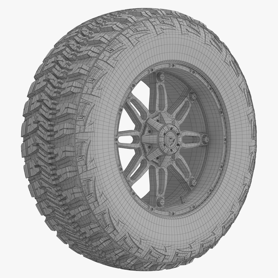 Off Road Wheel GOOD YEAR & FUEL royalty-free 3d model - Preview no. 7