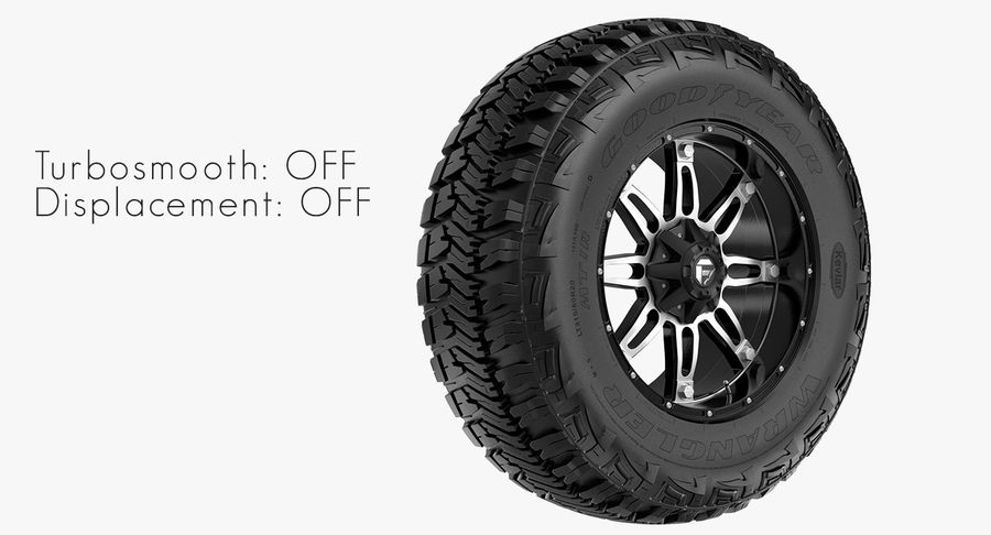 Off Road Wheel GOOD YEAR & FUEL royalty-free 3d model - Preview no. 6
