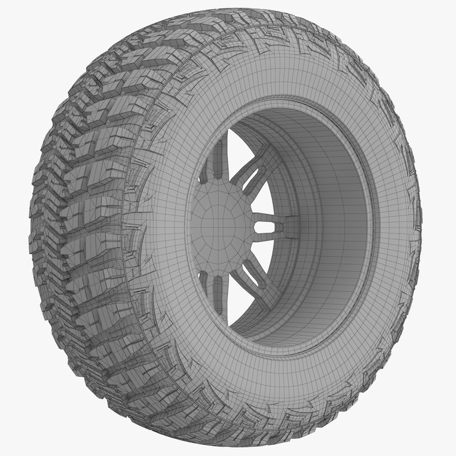 Off Road Wheel GOOD YEAR & FUEL royalty-free 3d model - Preview no. 8