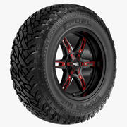 Off-road wiel BRANDSTOF EN MOTOMETAAL 3d model