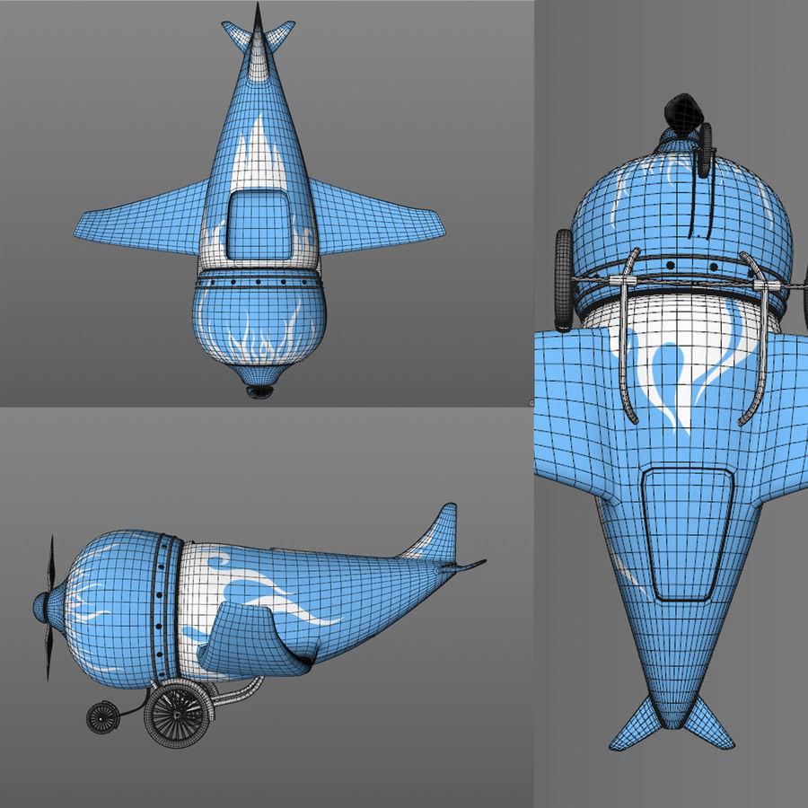 Aereo dei cartoni animati royalty-free 3d model - Preview no. 5