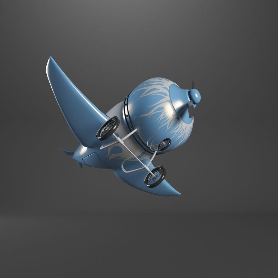 Aereo dei cartoni animati royalty-free 3d model - Preview no. 3