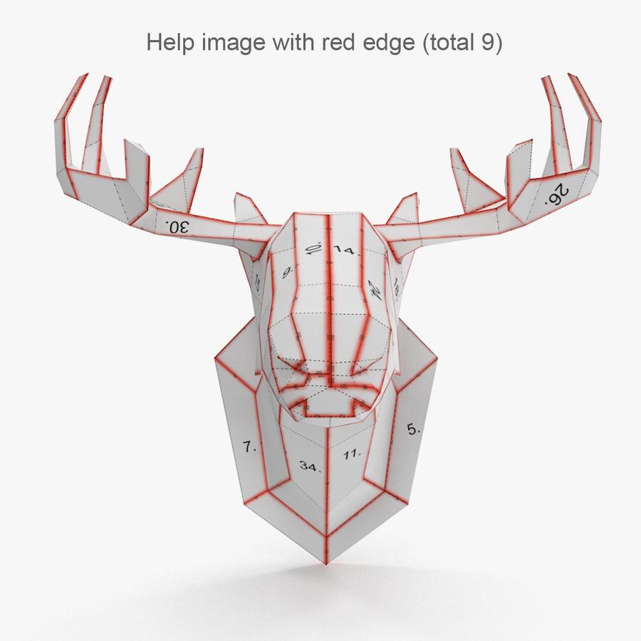 Papier à tête d'orignal royalty-free 3d model - Preview no. 6