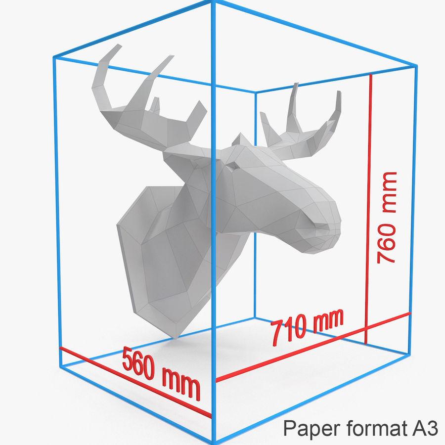 Papier à tête d'orignal royalty-free 3d model - Preview no. 4