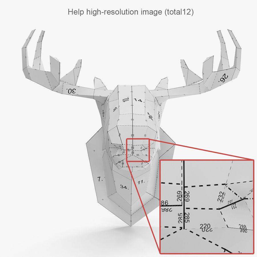 Papier à tête d'orignal royalty-free 3d model - Preview no. 5