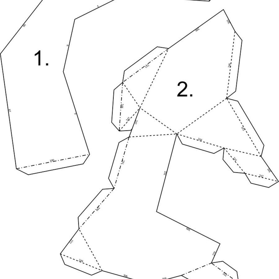 Papier à tête d'orignal royalty-free 3d model - Preview no. 7