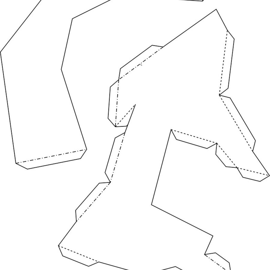 Papier à tête d'orignal royalty-free 3d model - Preview no. 8