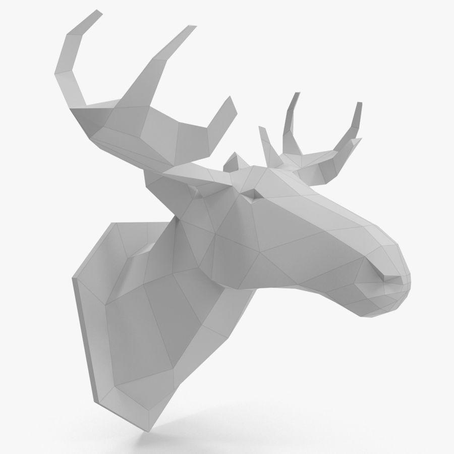 Papier à tête d'orignal royalty-free 3d model - Preview no. 1