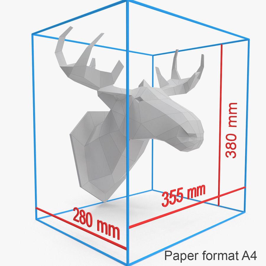 Papier à tête d'orignal royalty-free 3d model - Preview no. 3