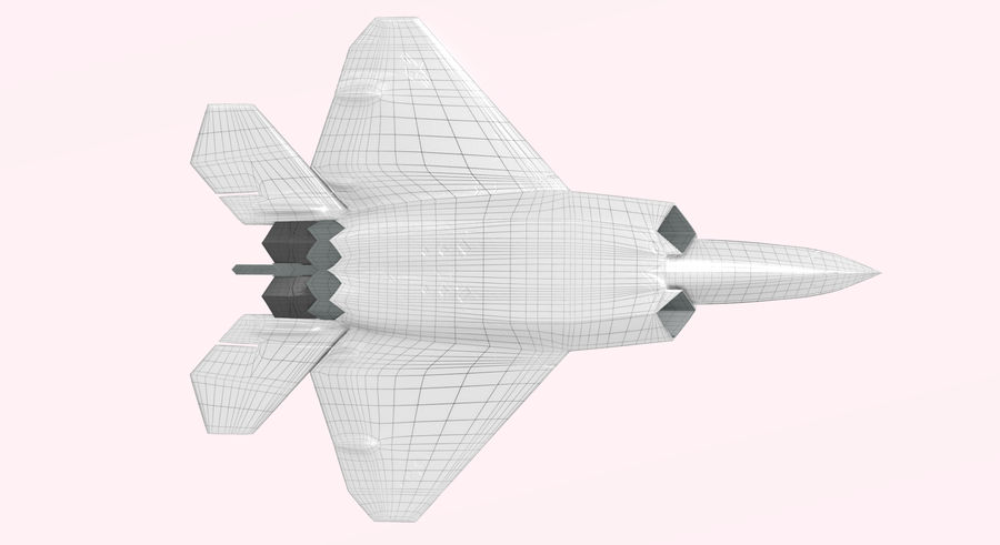 F-22 랩터 royalty-free 3d model - Preview no. 5