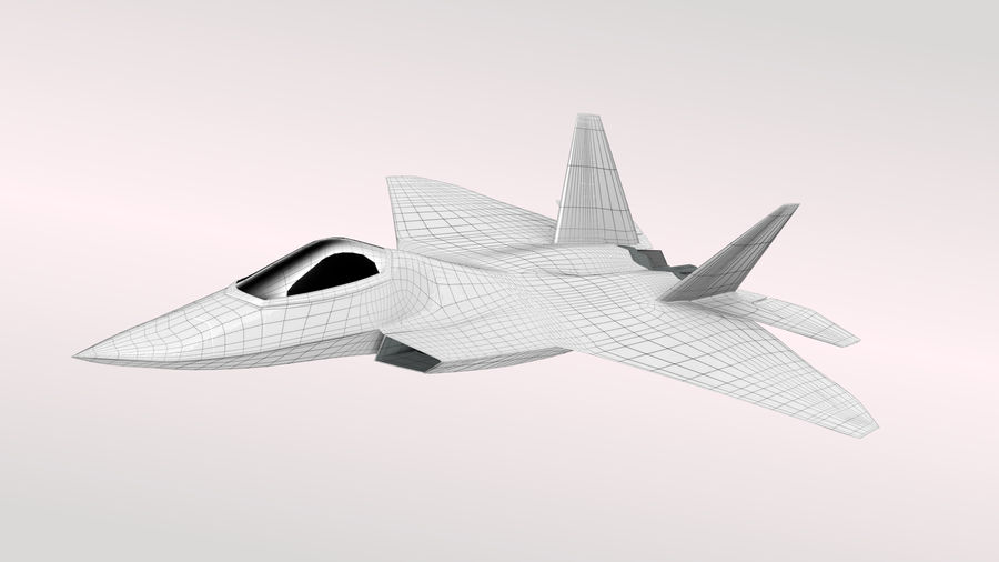 F-22 랩터 royalty-free 3d model - Preview no. 3