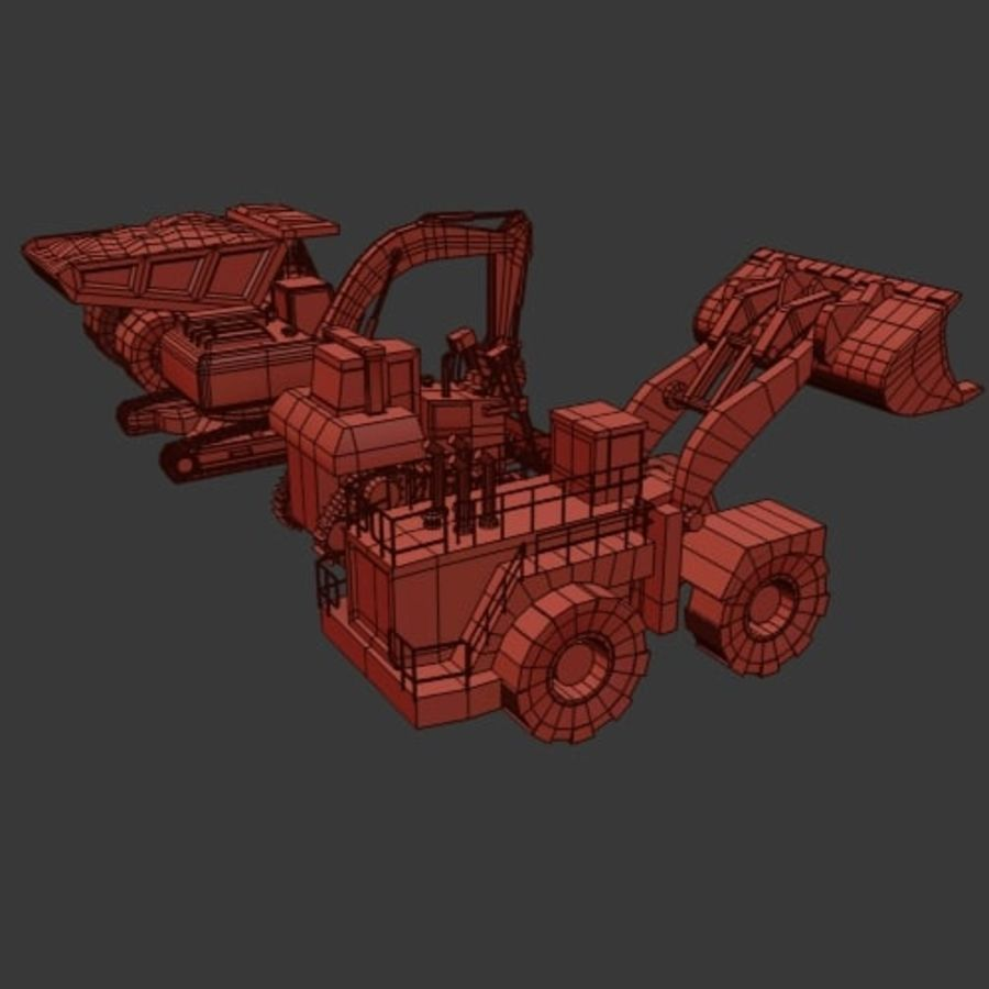 Industrial Vehicles Pack royalty-free 3d model - Preview no. 14