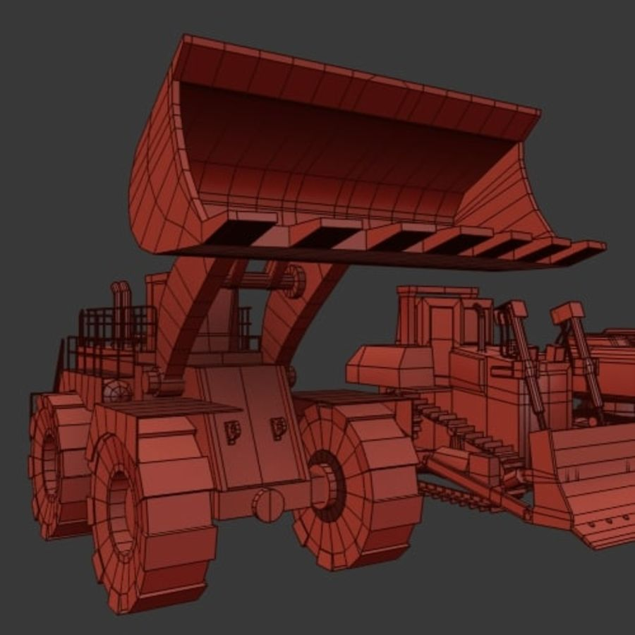 Industrial Vehicles Pack royalty-free 3d model - Preview no. 20