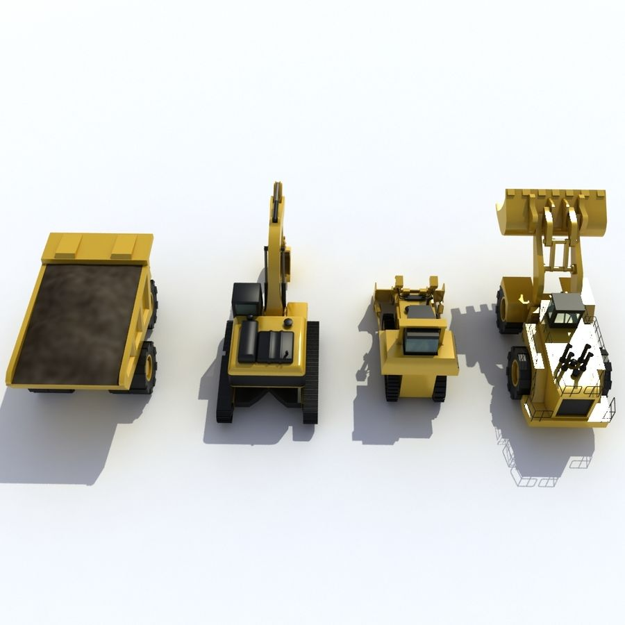 Pack véhicules industriels royalty-free 3d model - Preview no. 5