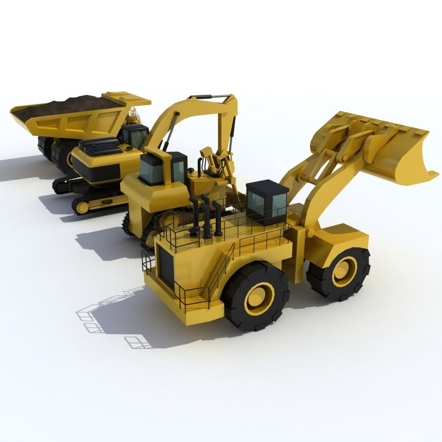 Industrial Vehicles Pack royalty-free 3d model - Preview no. 4