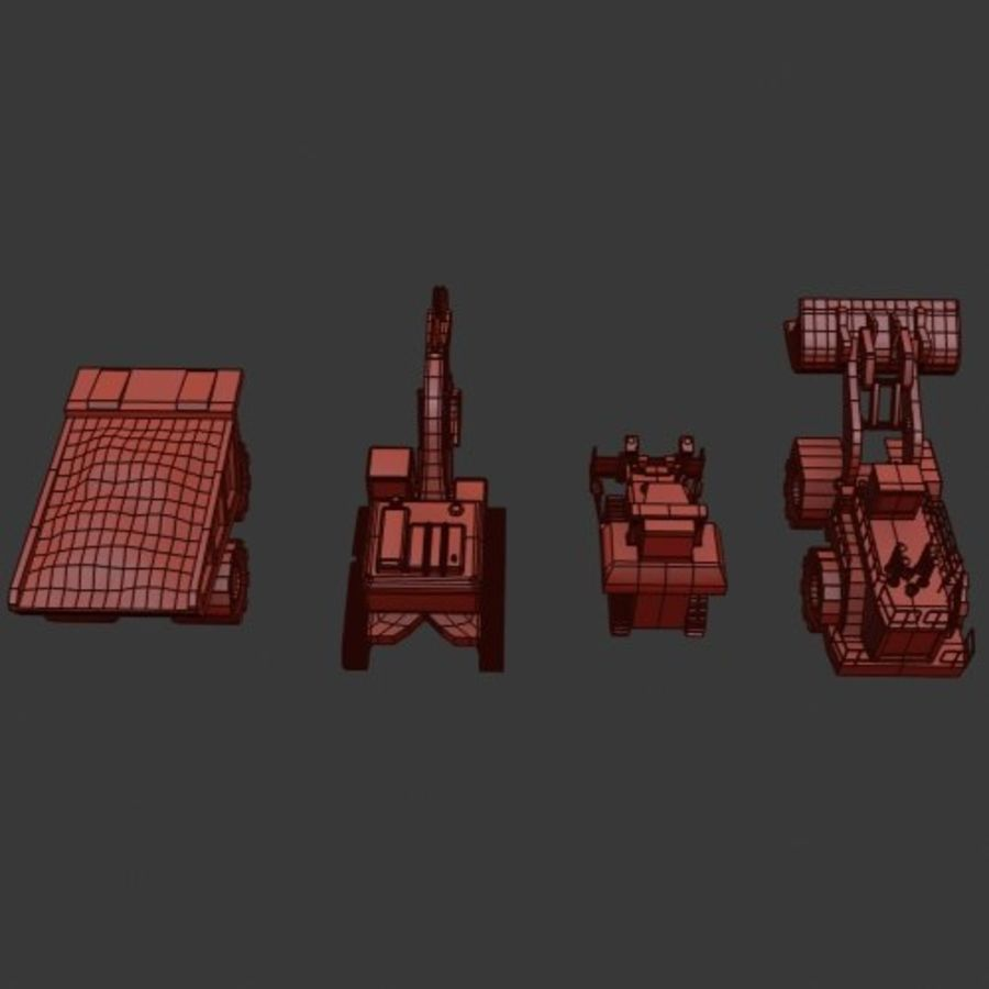 Pack véhicules industriels royalty-free 3d model - Preview no. 16