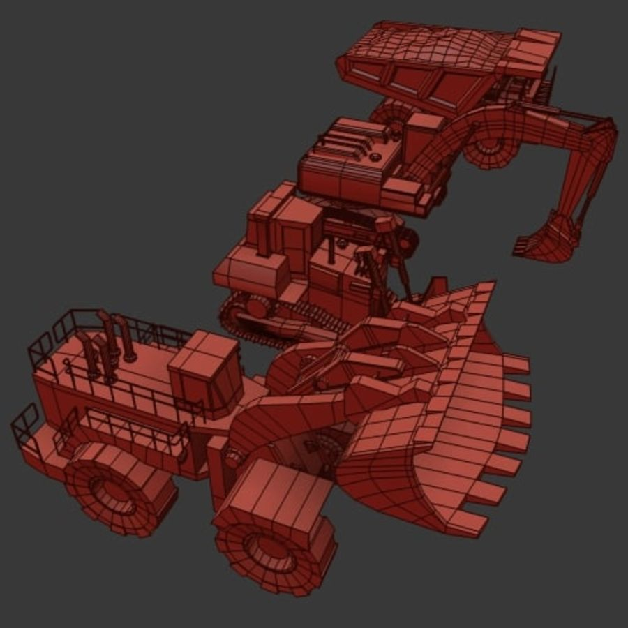 Industrial Vehicles Pack royalty-free 3d model - Preview no. 13