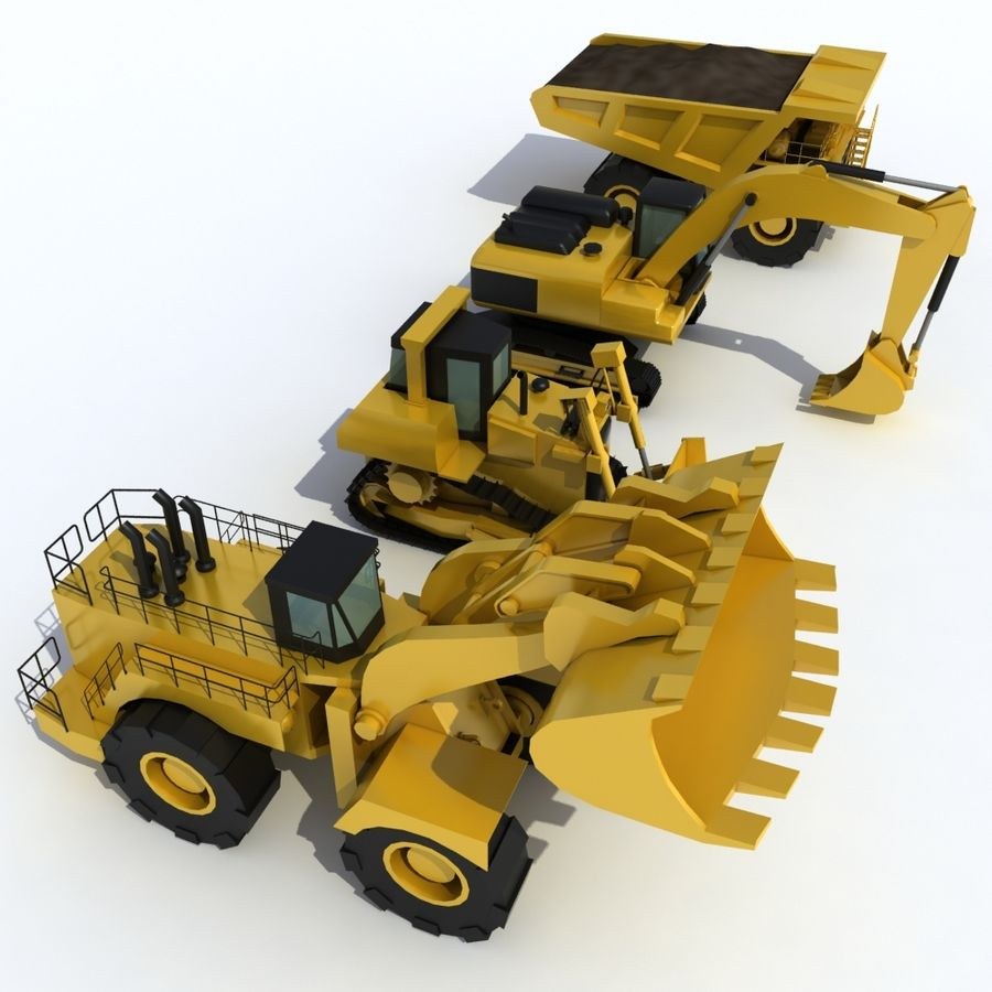 Industrial Vehicles Pack royalty-free 3d model - Preview no. 3