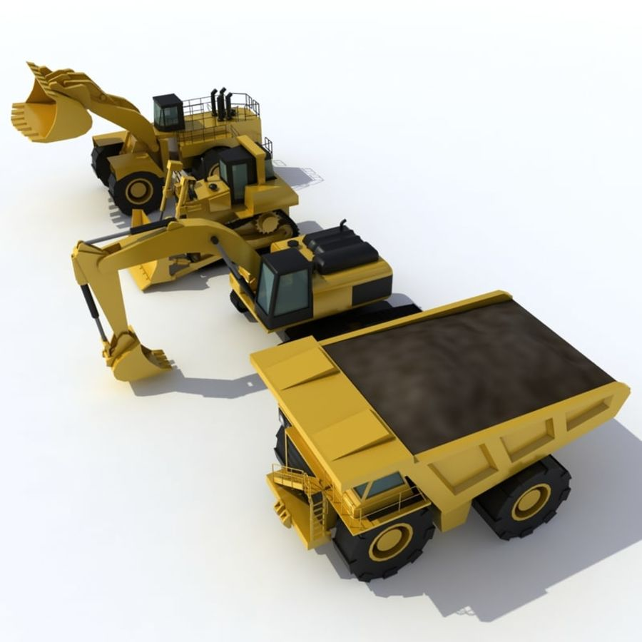 Industrial Vehicles Pack royalty-free 3d model - Preview no. 2