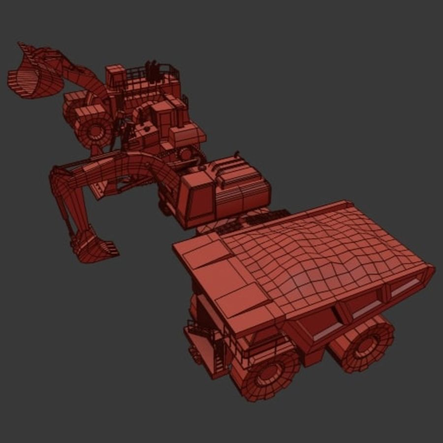 Industrial Vehicles Pack royalty-free 3d model - Preview no. 12