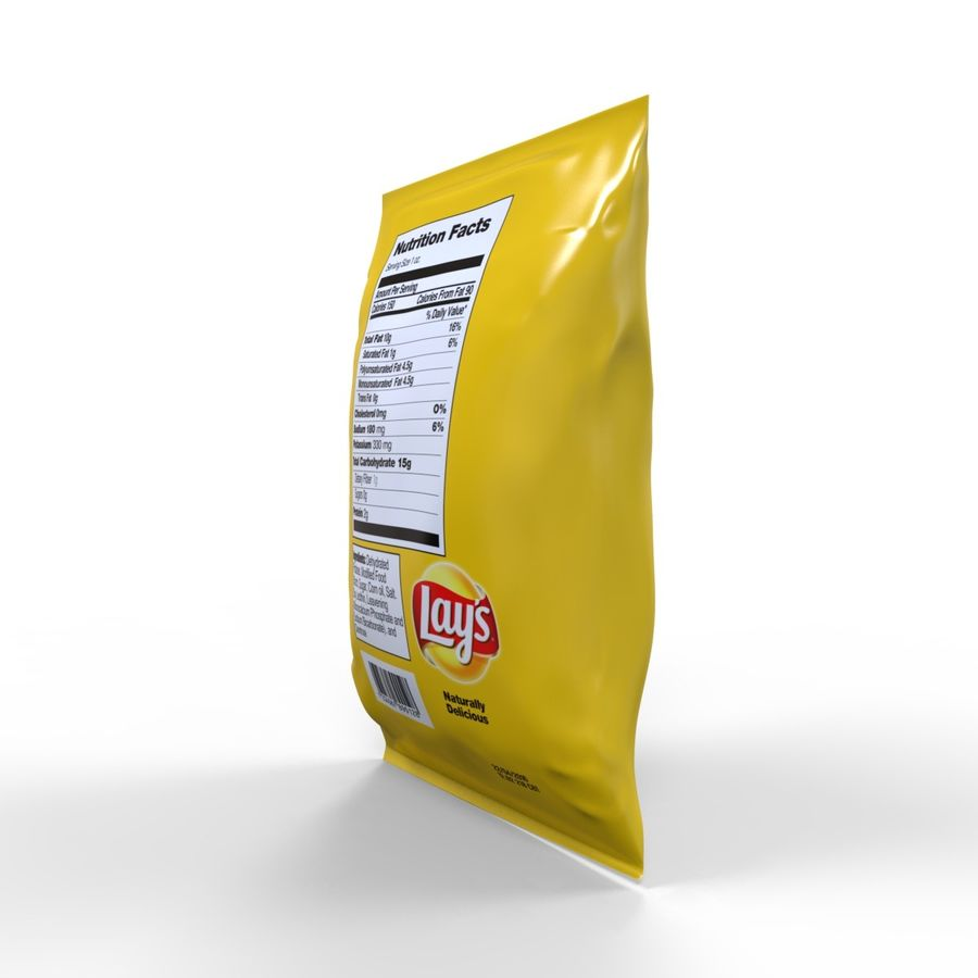 Chip Bag royalty-free 3d model - Preview no. 6