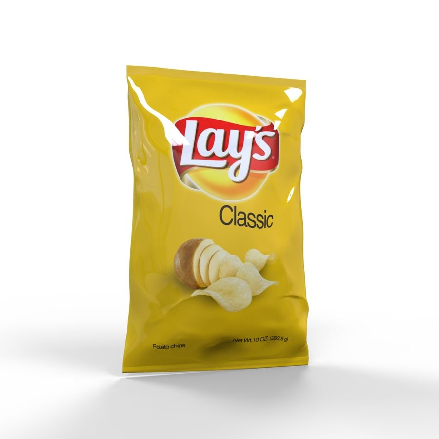 Chip-Tasche royalty-free 3d model - Preview no. 3