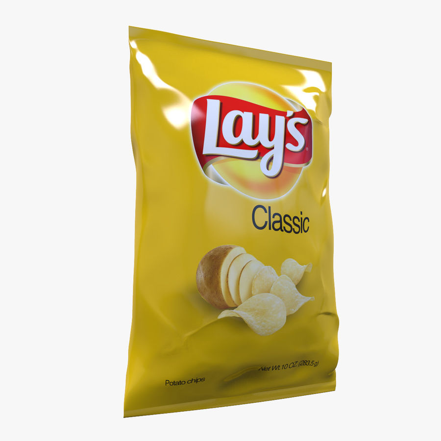 Chip Bag royalty-free 3d model - Preview no. 1