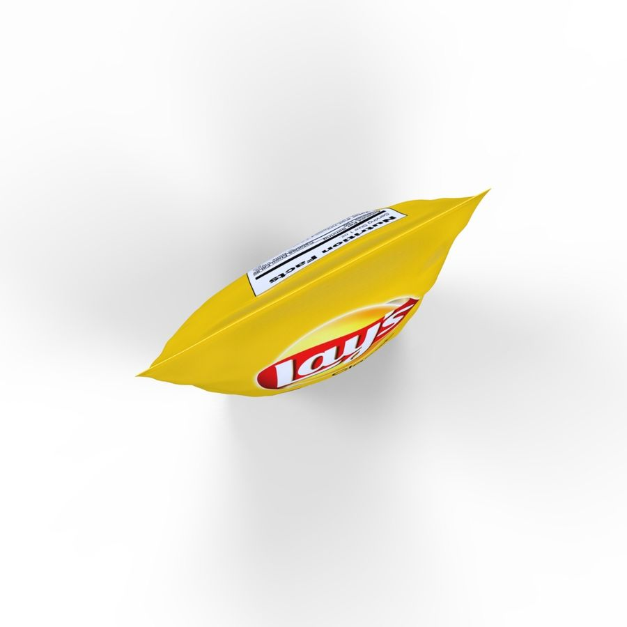 Chip Bag royalty-free 3d model - Preview no. 7