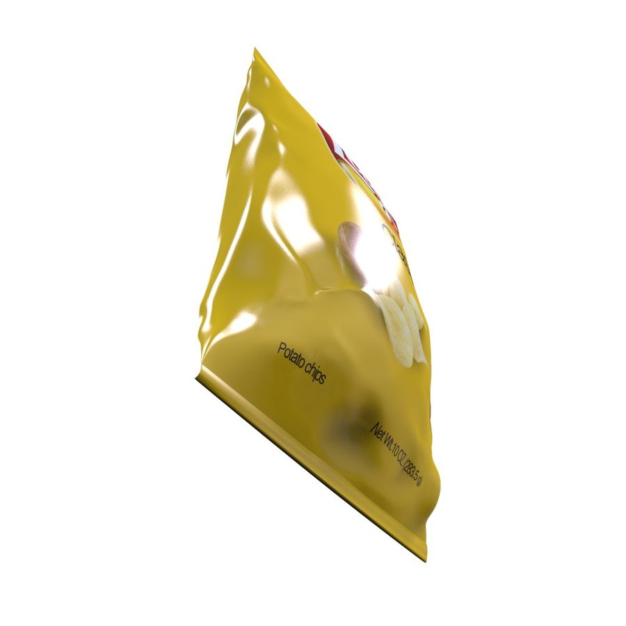 Chip Bag royalty-free 3d model - Preview no. 8