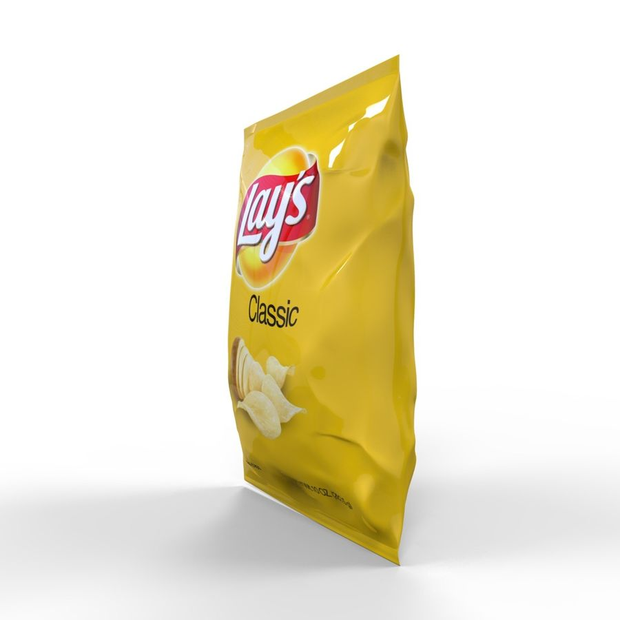 Chip Bag royalty-free 3d model - Preview no. 4