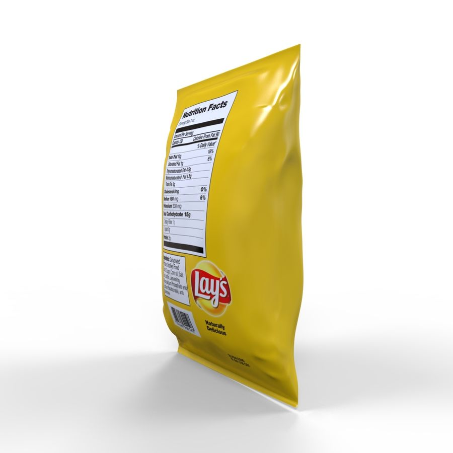Chip-Tasche royalty-free 3d model - Preview no. 6