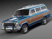 지프 Wagoneer 우디 1980 3d model
