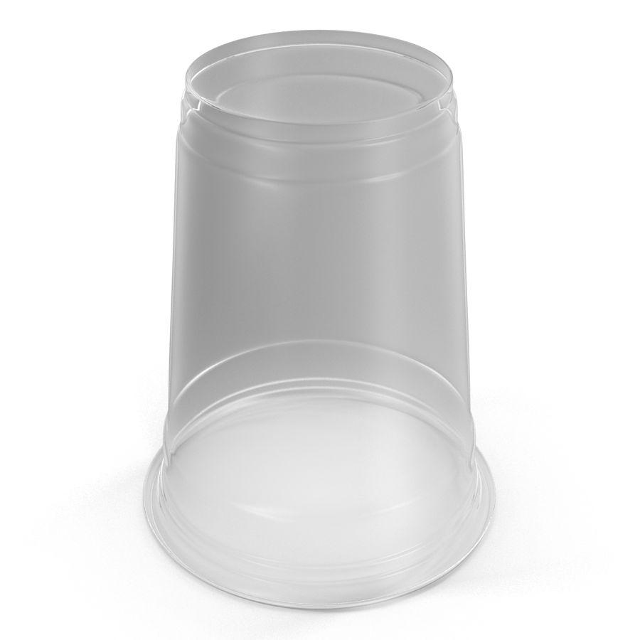 Solo plastica trasparente tazza royalty-free 3d model - Preview no. 9