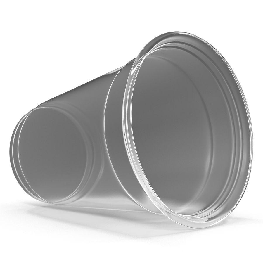 Solo plastica trasparente tazza royalty-free 3d model - Preview no. 4