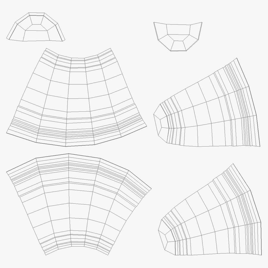Solo plastica trasparente tazza royalty-free 3d model - Preview no. 14