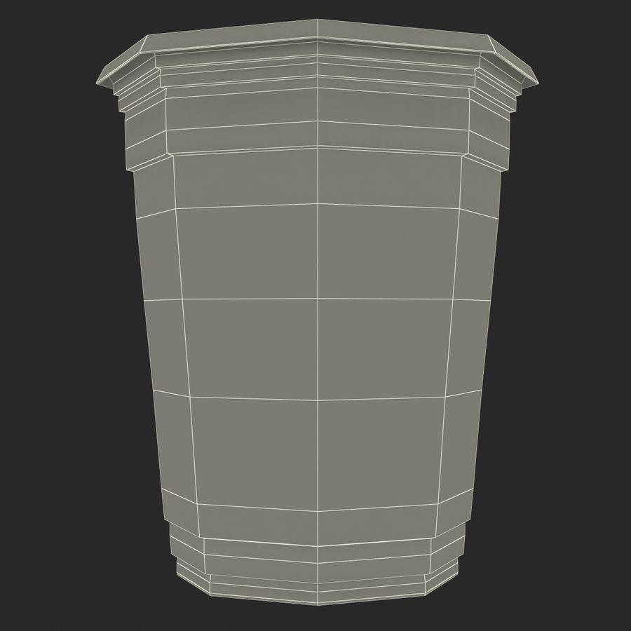 Solo plastica trasparente tazza royalty-free 3d model - Preview no. 17