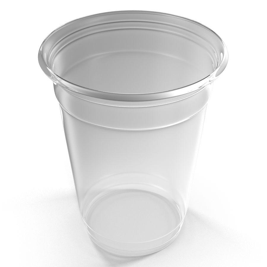 Solo plastica trasparente tazza royalty-free 3d model - Preview no. 3