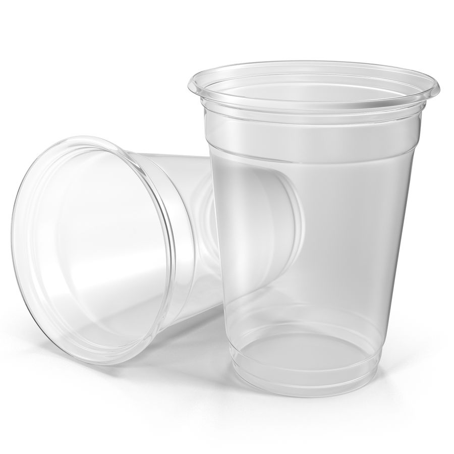Solo plastica trasparente tazza royalty-free 3d model - Preview no. 2