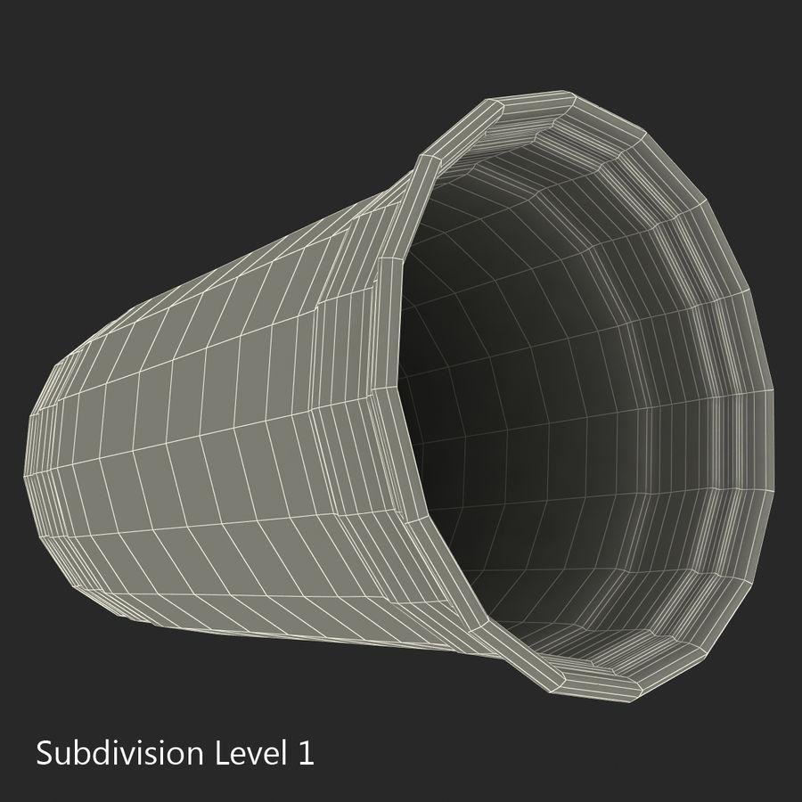 Solo plastica trasparente tazza royalty-free 3d model - Preview no. 13