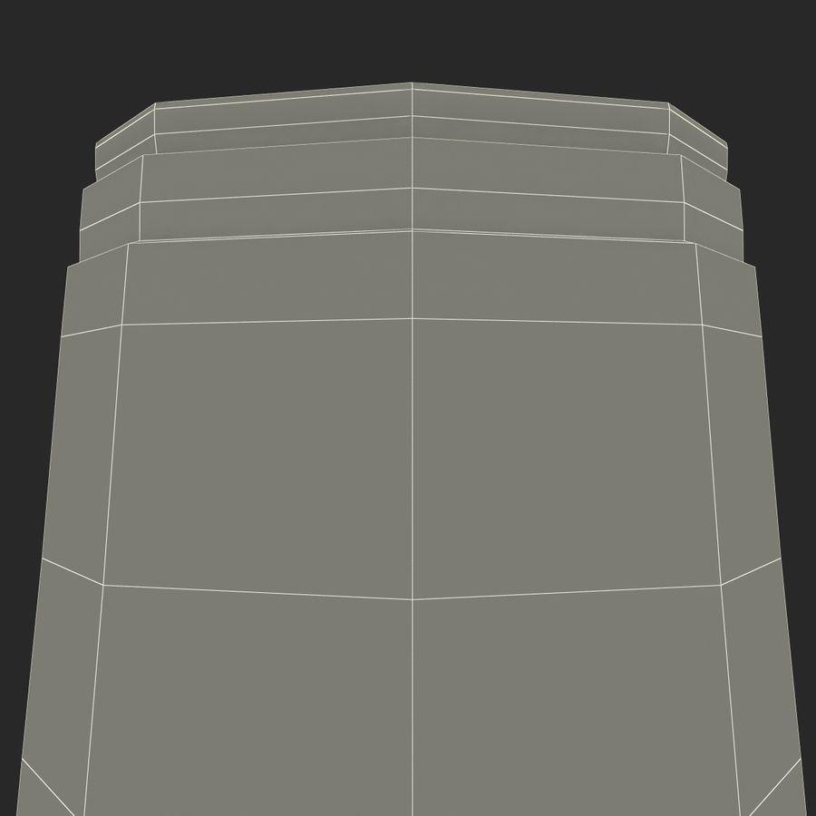 Solo plastica trasparente tazza royalty-free 3d model - Preview no. 24
