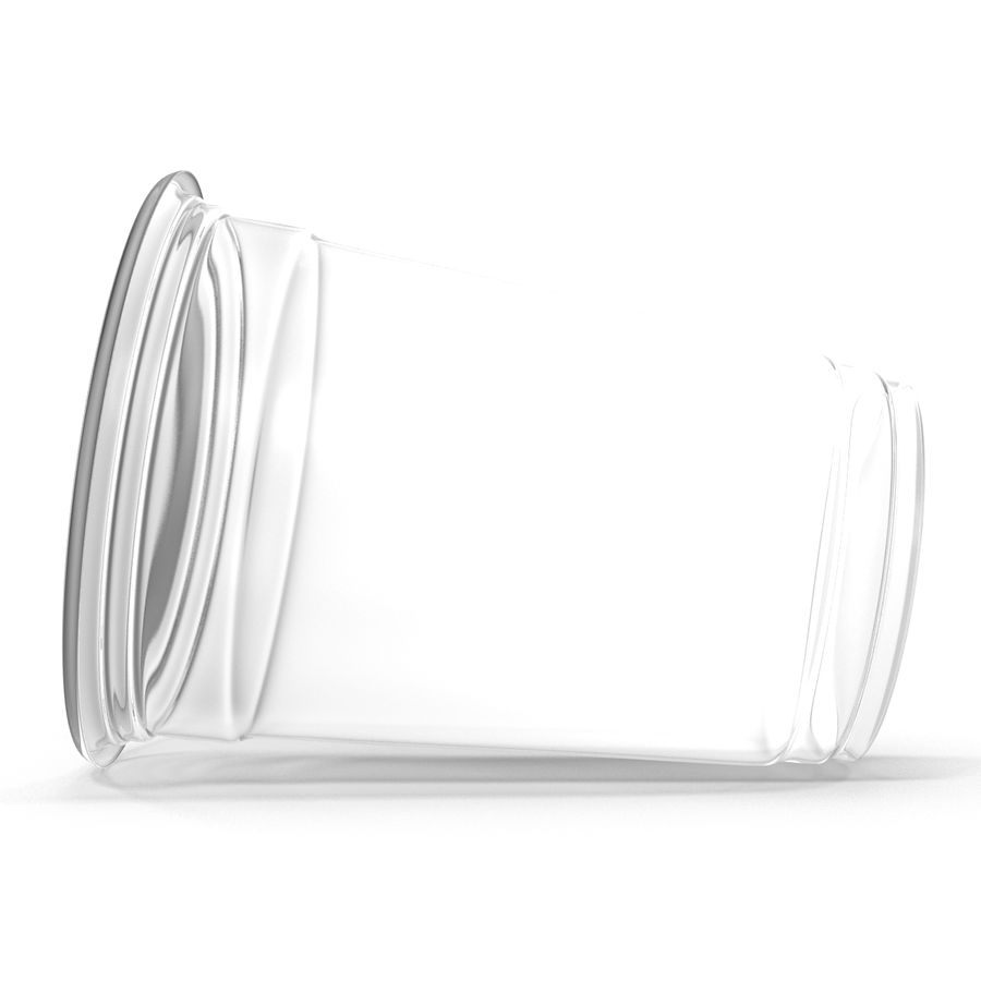 Solo plastica trasparente tazza royalty-free 3d model - Preview no. 7