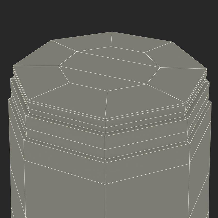 Solo plastica trasparente tazza royalty-free 3d model - Preview no. 23