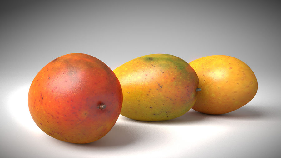 Realistic Mango royalty-free 3d model - Preview no. 4